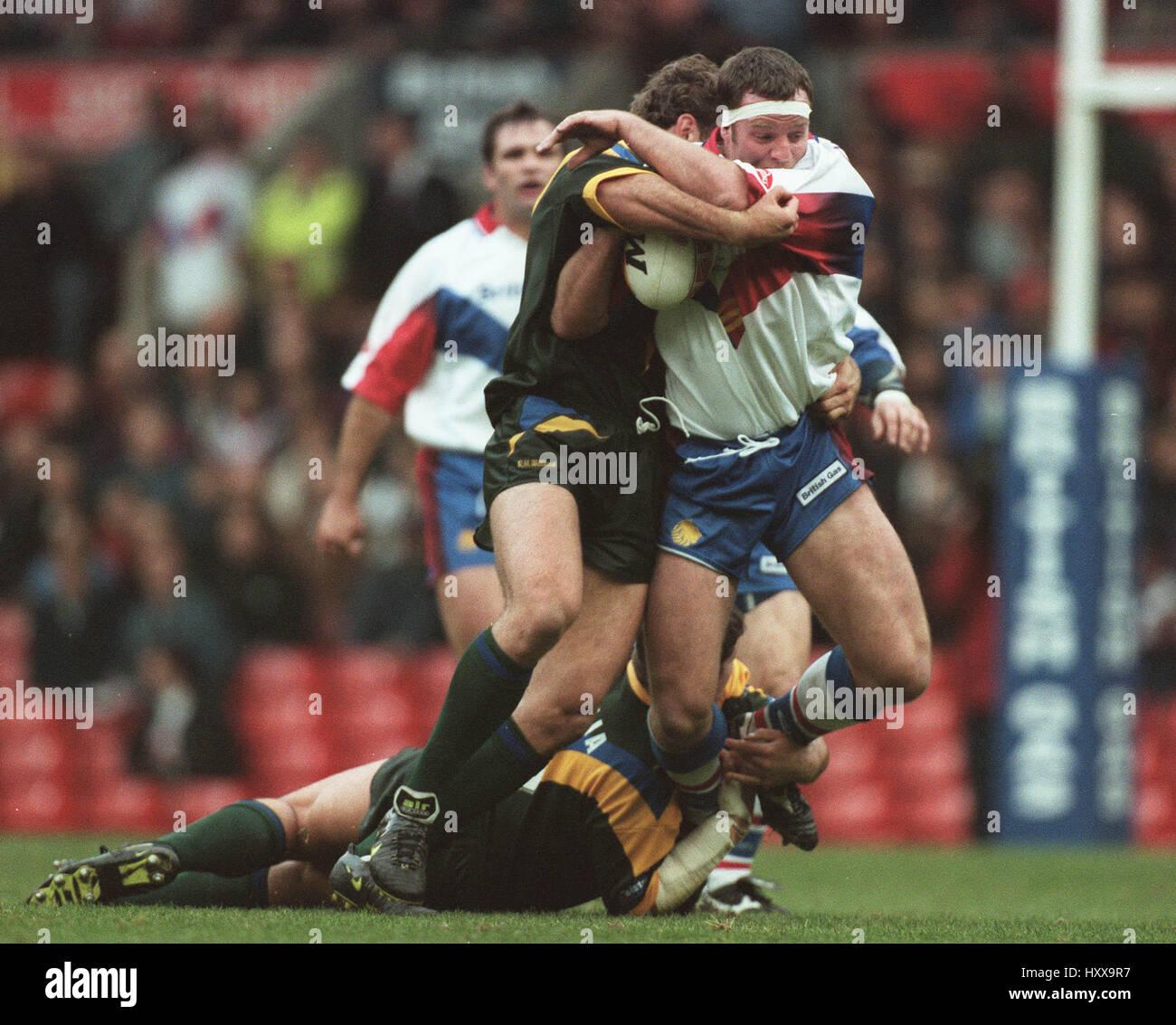 PAUL BROADBENT TALLIS STEVENS GREAT BRITAIN V AUSTRALIA 10 November 1997 - Stock Image