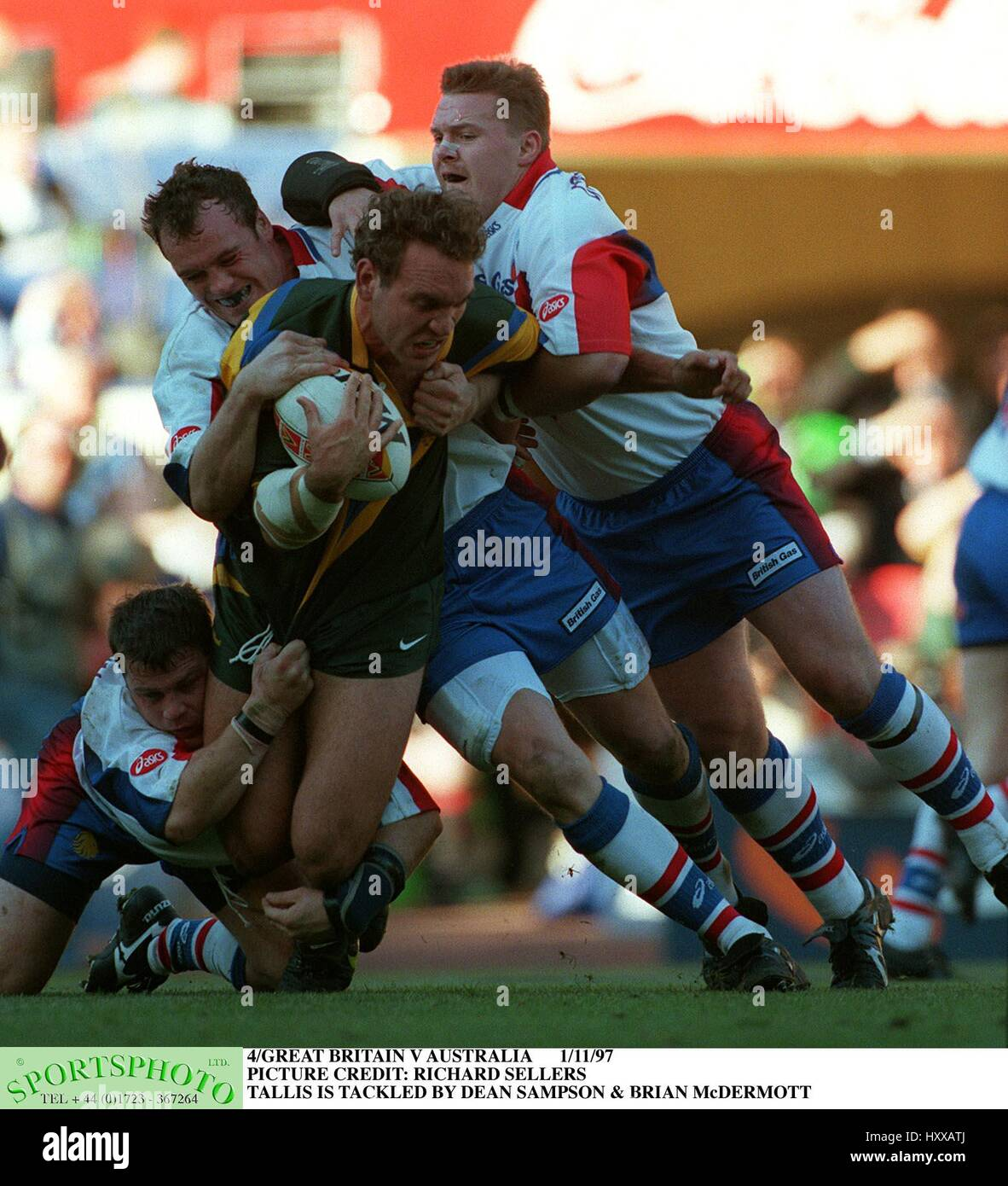 TALLIS MCDERMOTT & SAMPSON GREAT BRITAIN V AUSTRALIA 01 November 1997 - Stock Image