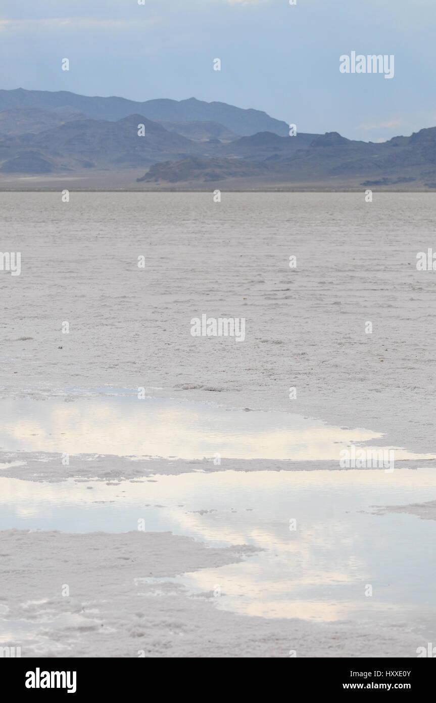Salt Desert, Bonneville, Utah Stock Photo