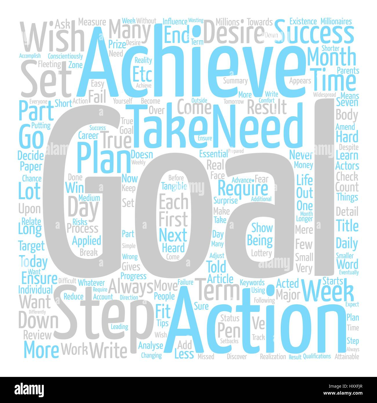 Steps To Achievable Goals text background word cloud concept - Stock Vector