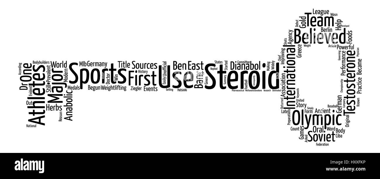 Steroids in Sports text background word cloud concept - Stock Vector