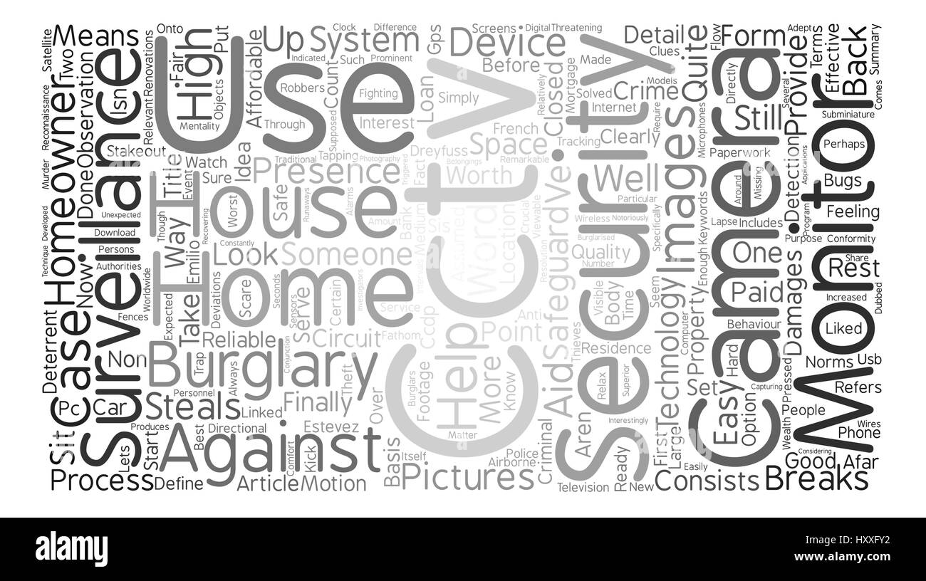 Surveillance for the homeowner text background word cloud concept - Stock Vector
