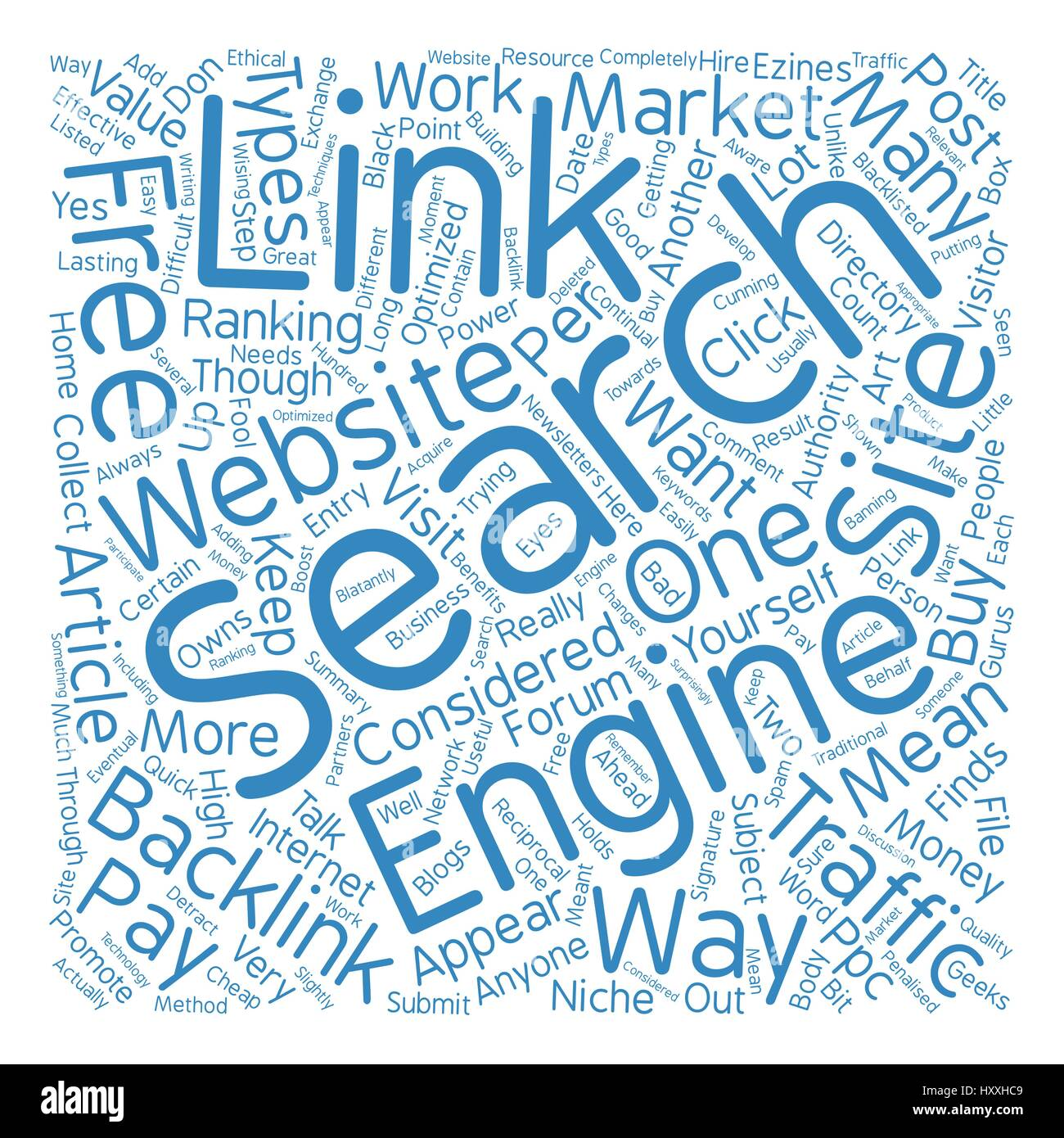 The Power Of Backlinks text background word cloud concept - Stock Vector