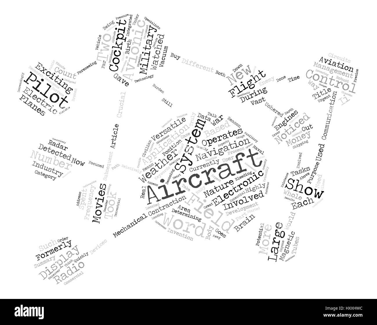 The Versatile Field Of Avionics text background word cloud concept - Stock Image