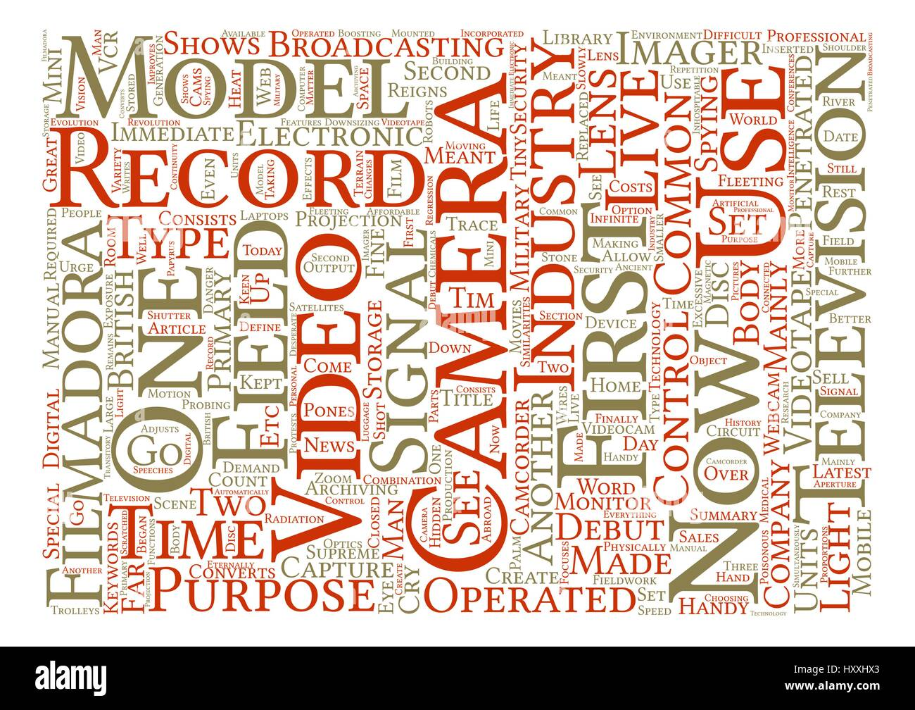 The Video Camera Reigns Supreme Word Cloud Concept Text Background