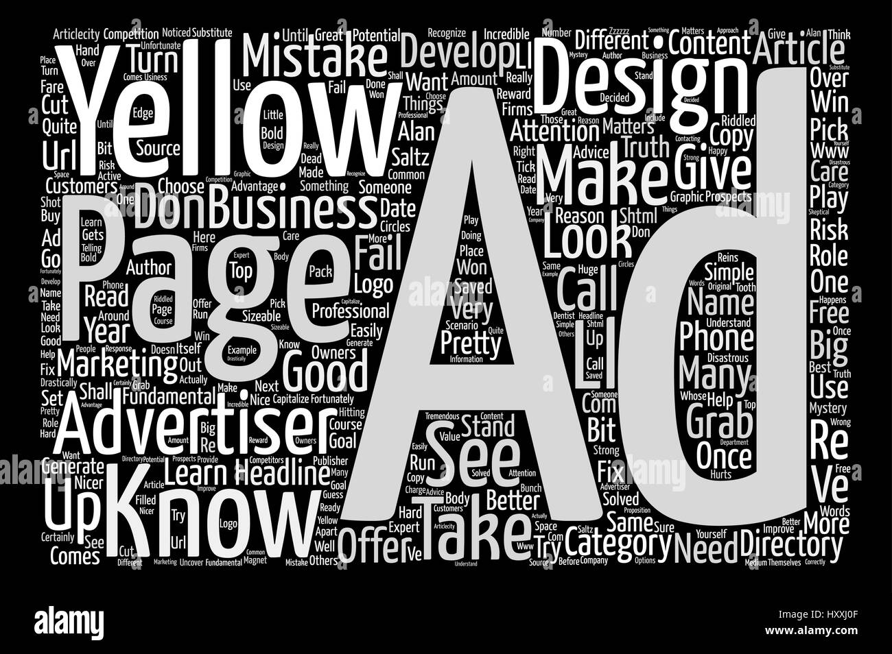 Things Every Yellow Pages Advertiser Needs to Know text background word cloud concept - Stock Vector