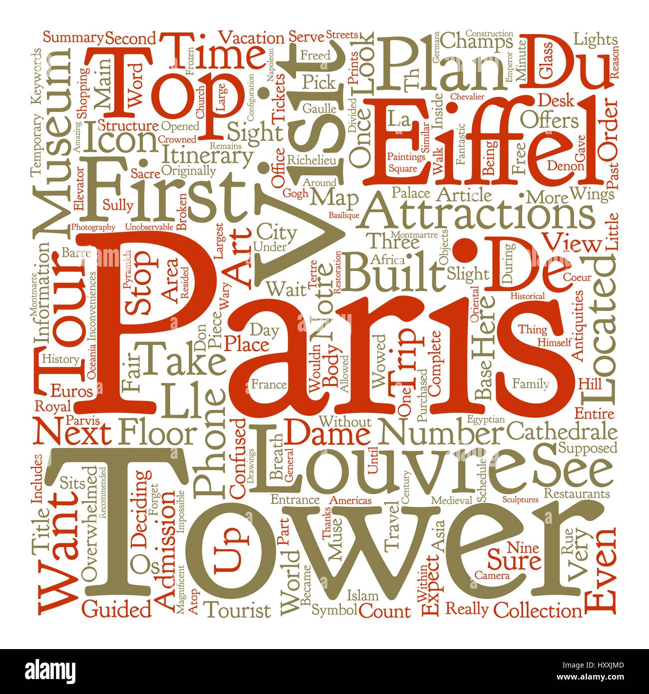 Top Tourist Attractions In Paris text background word cloud concept - Stock Vector