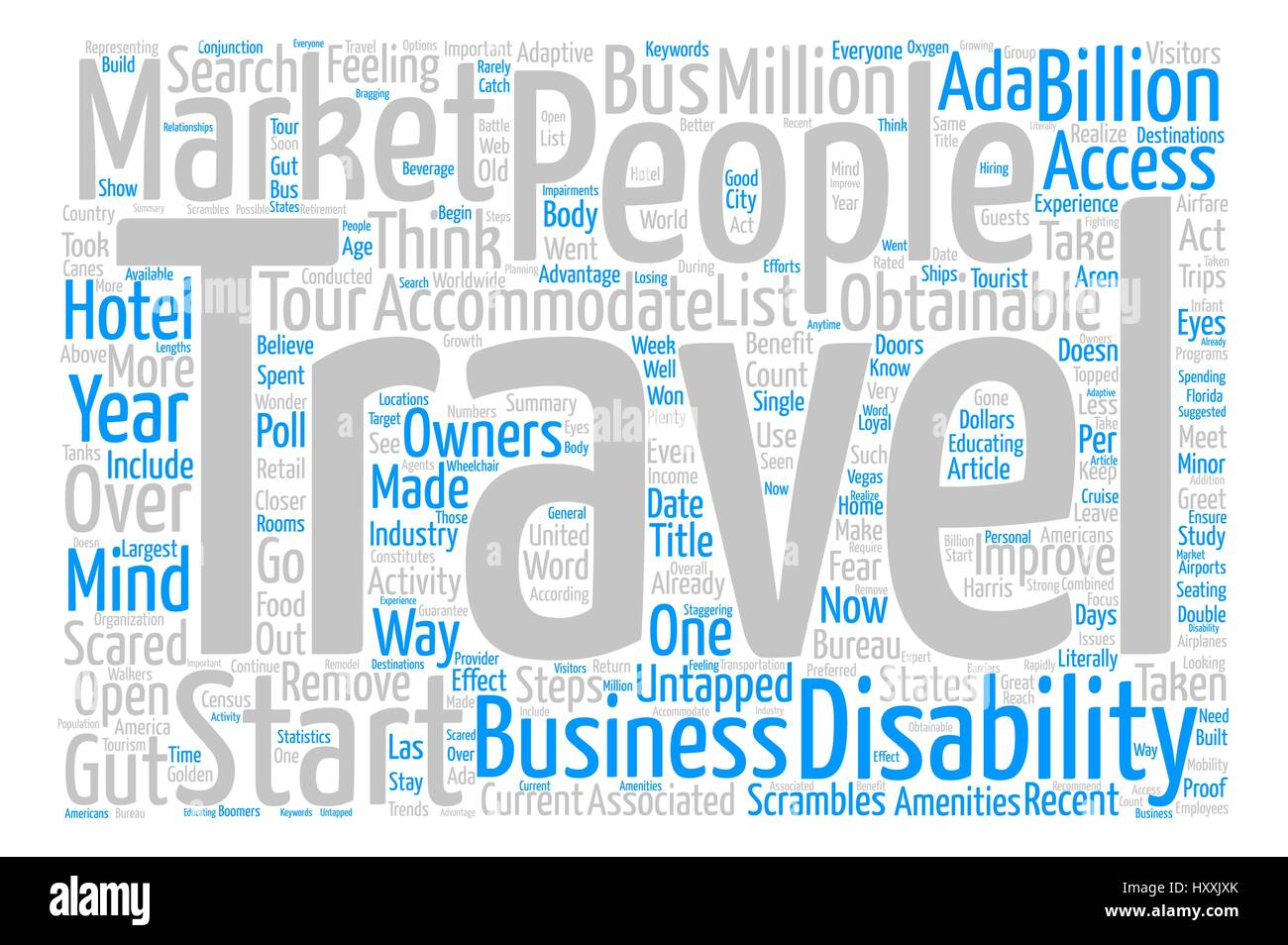 travelers with disabilities the untapped market text background word