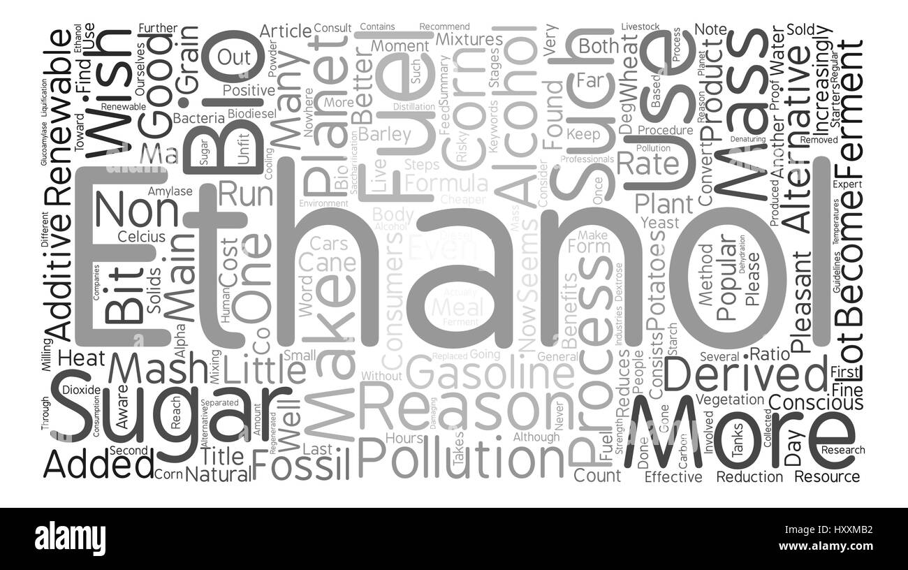 What Is Ethanol >> What Is Ethanol Word Cloud Concept Text Background Stock