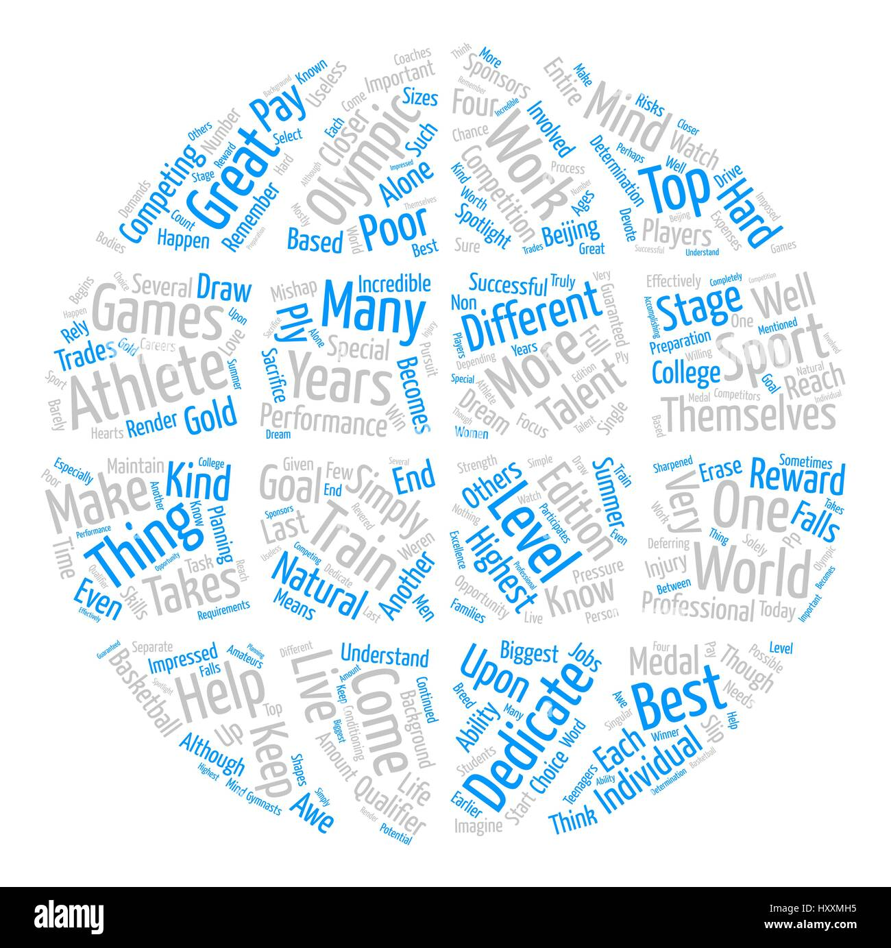 What Makes an Olympic Athlete text background word cloud concept - Stock Vector