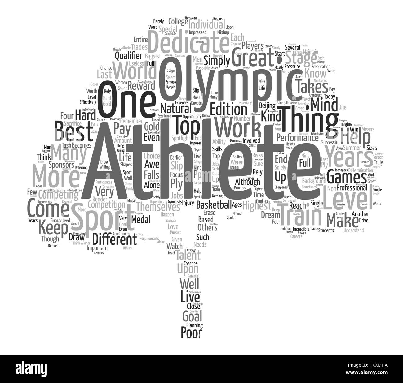 What Makes an Olympic Athlete Word Cloud Concept Text Background - Stock Vector