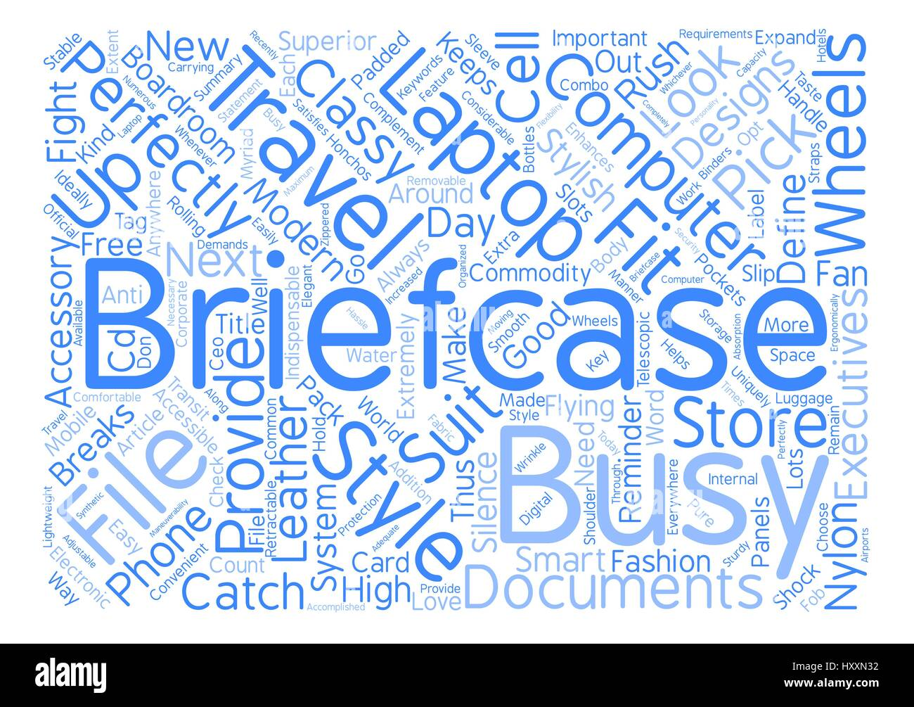 Wheeled Computer Briefcase Word Cloud Concept Text Background - Stock Vector