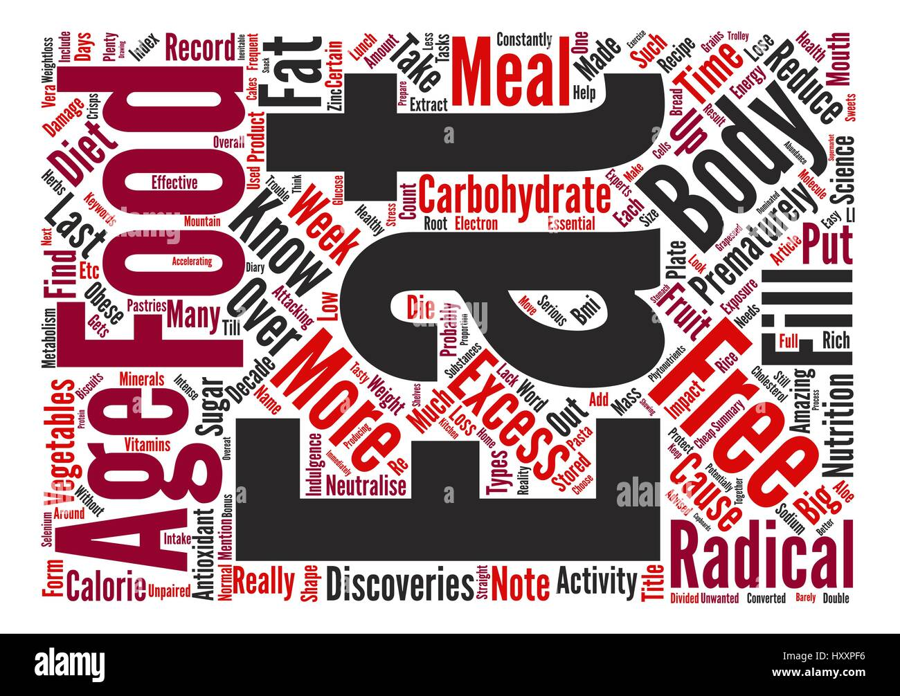 Your Food Can Prematurely Age You text background word cloud concept - Stock Vector