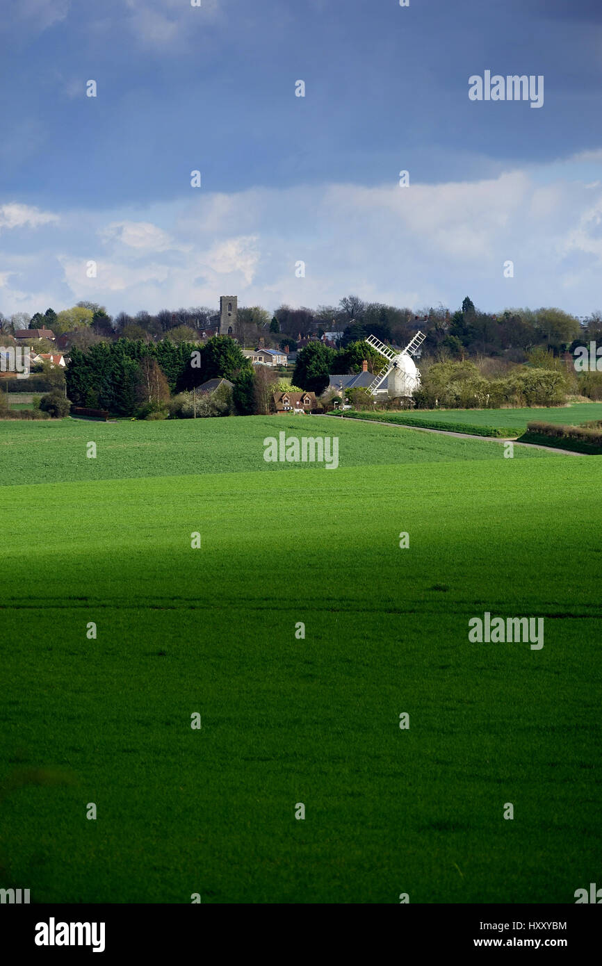 Great Chishill viewed from Barley - Stock Image