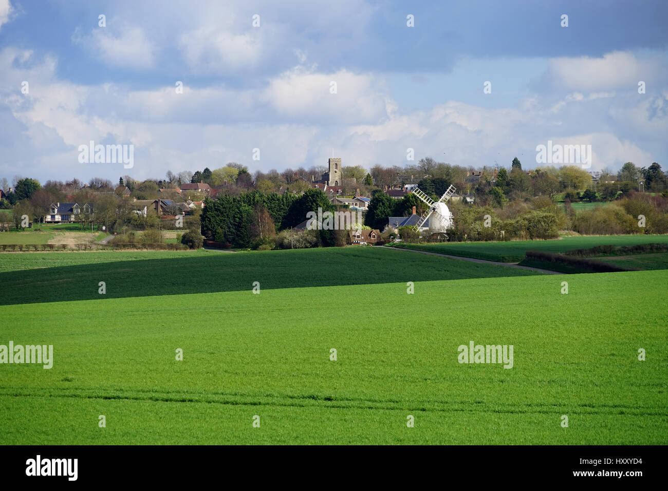 A view of Great Chishill - Stock Image