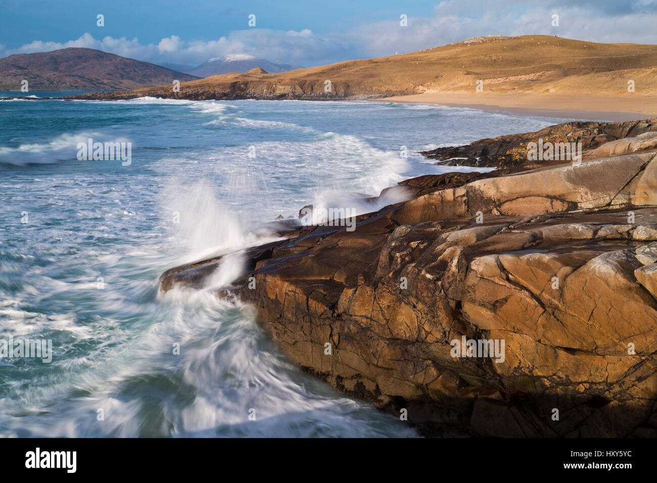 Coast at Horgabost, South Harris, Outer Hebrides - Stock Image