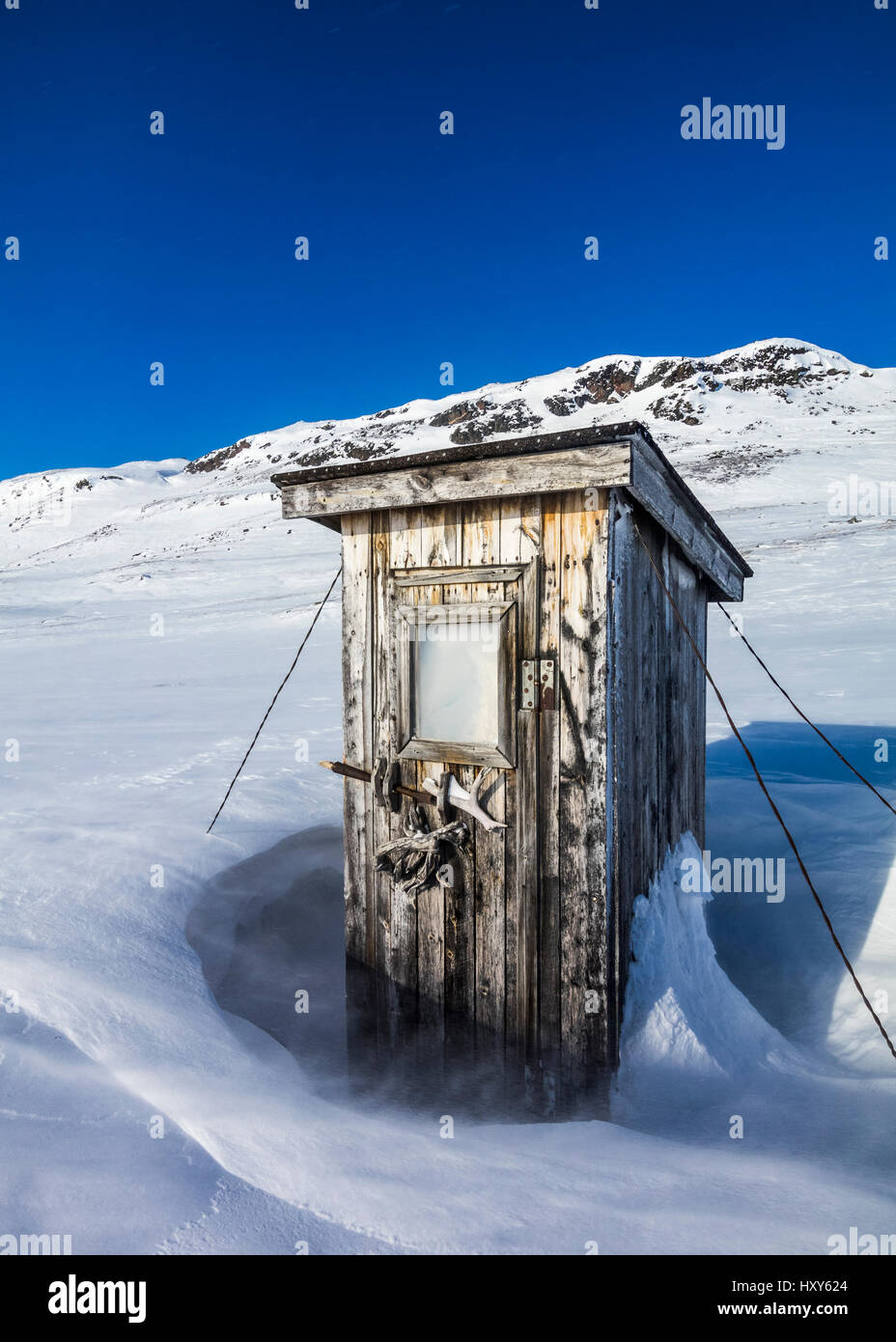 Wilderness outhouse - Stock Image