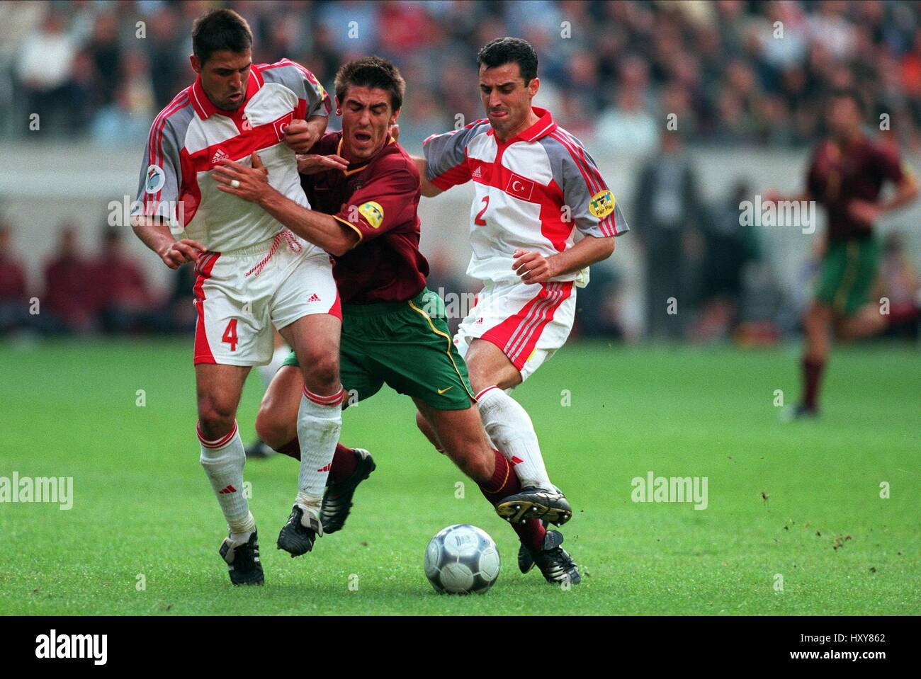 FAITH & SA PINTO & TAYFUR TURKEY V PORTUGAL 24 June 2000 - Stock Image
