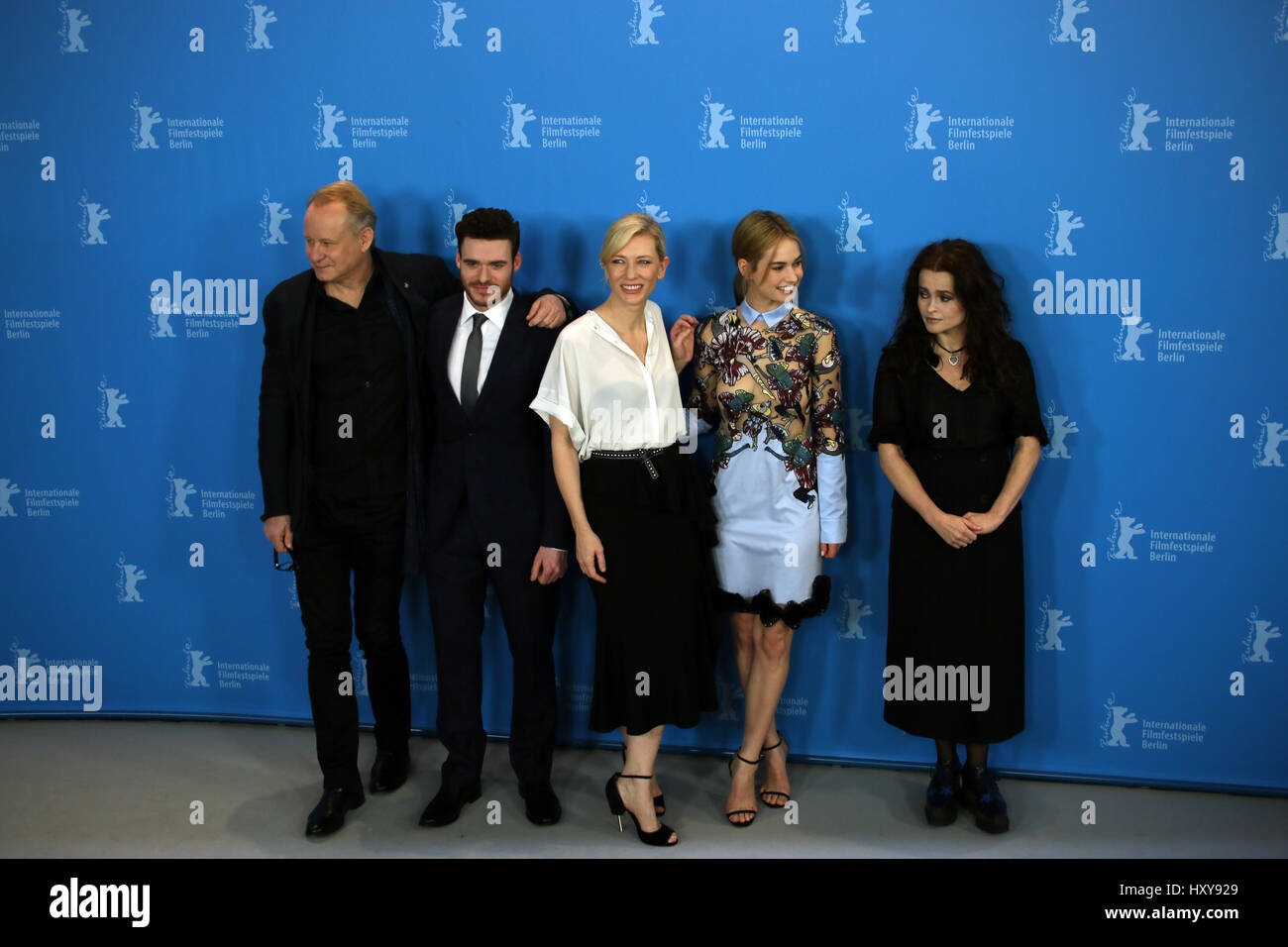 Berlin, Germany, February 13th, 2015: 'Cinderella' cast for film premiere at Berlinale. - Stock Image