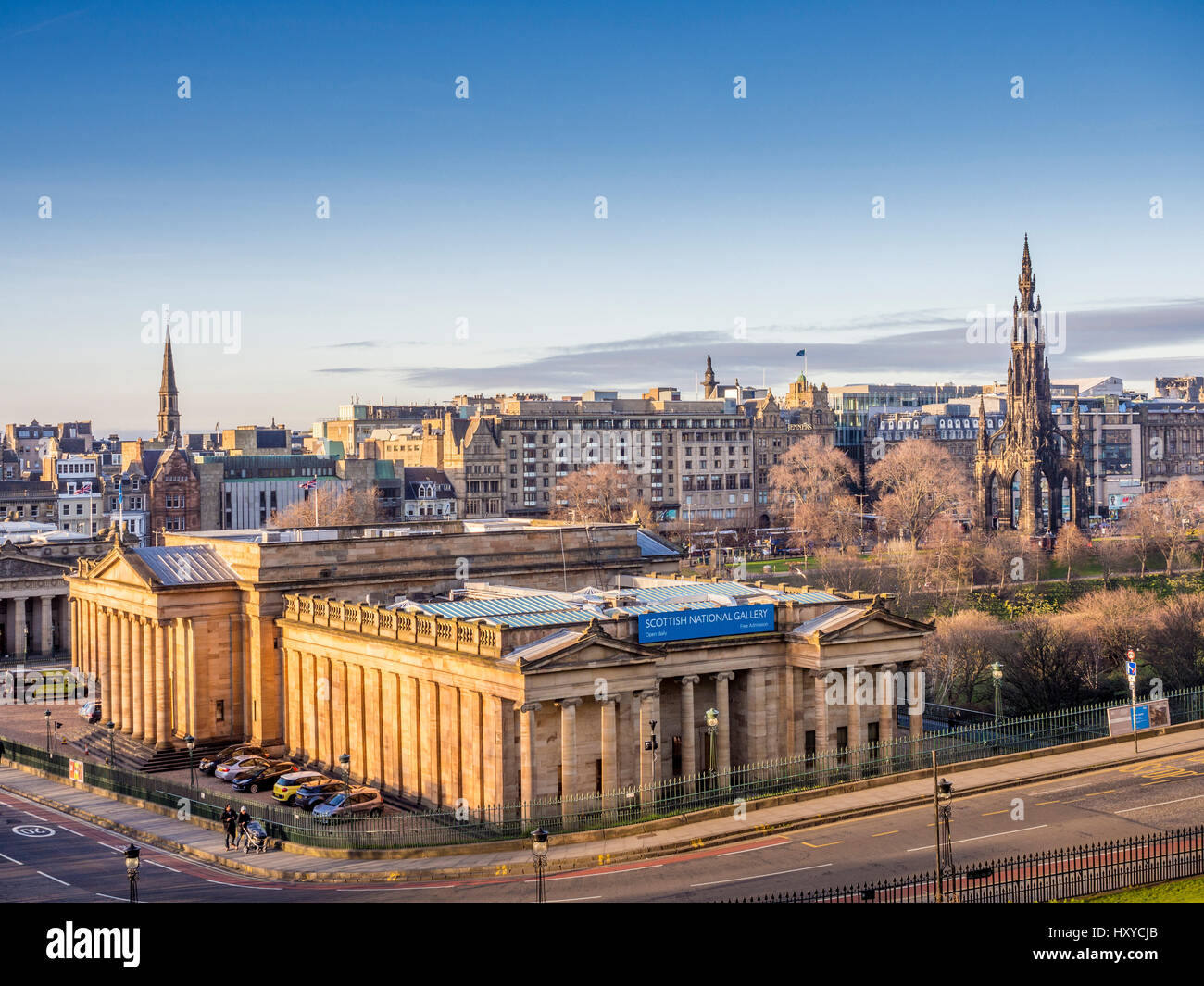 Scottish National Gallery, Edinburgh, Scotland, UK. Stock Photo