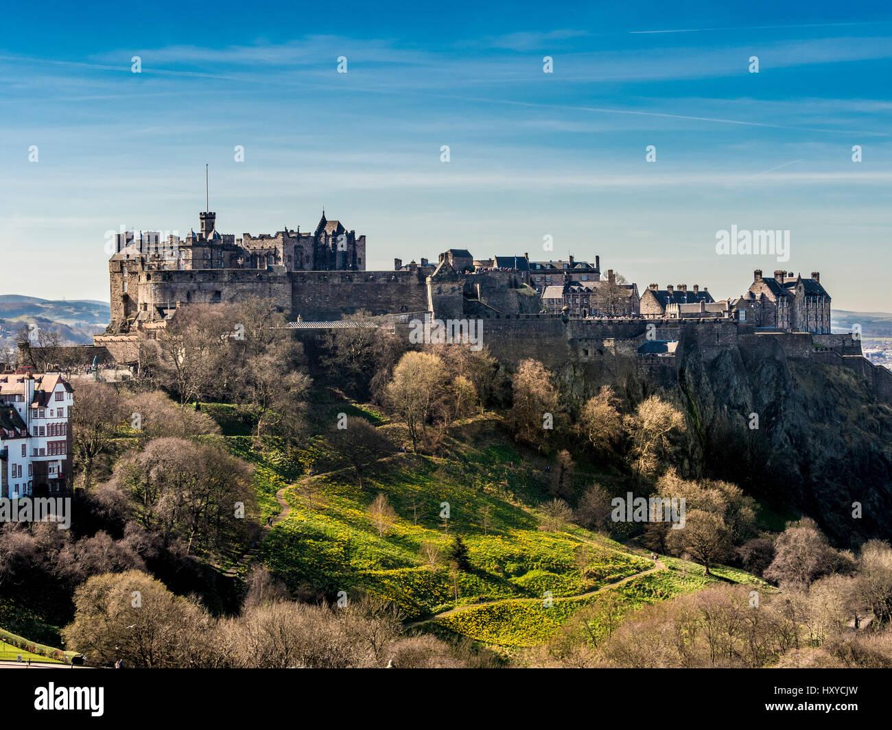 Edinburgh Castle, Edinburgh, Scotland, UK. - Stock Image