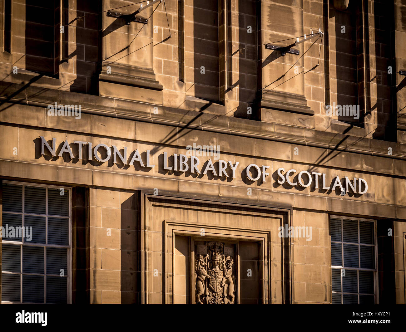 National Library of Scotland, Edinburgh, Scotland. Stock Photo