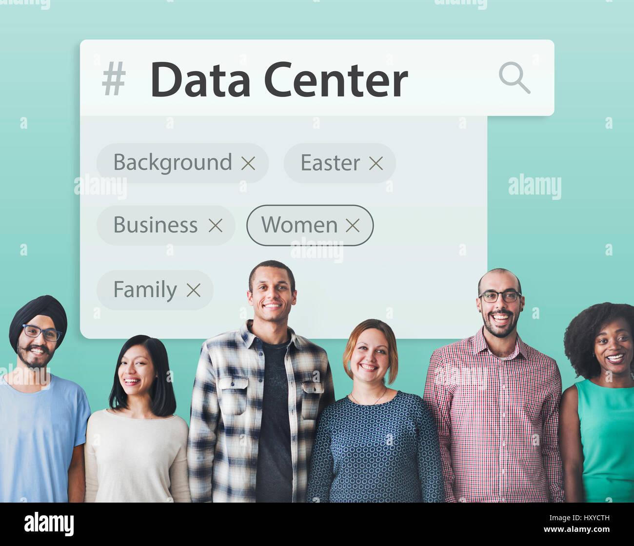Search engine box random concept - Stock Image