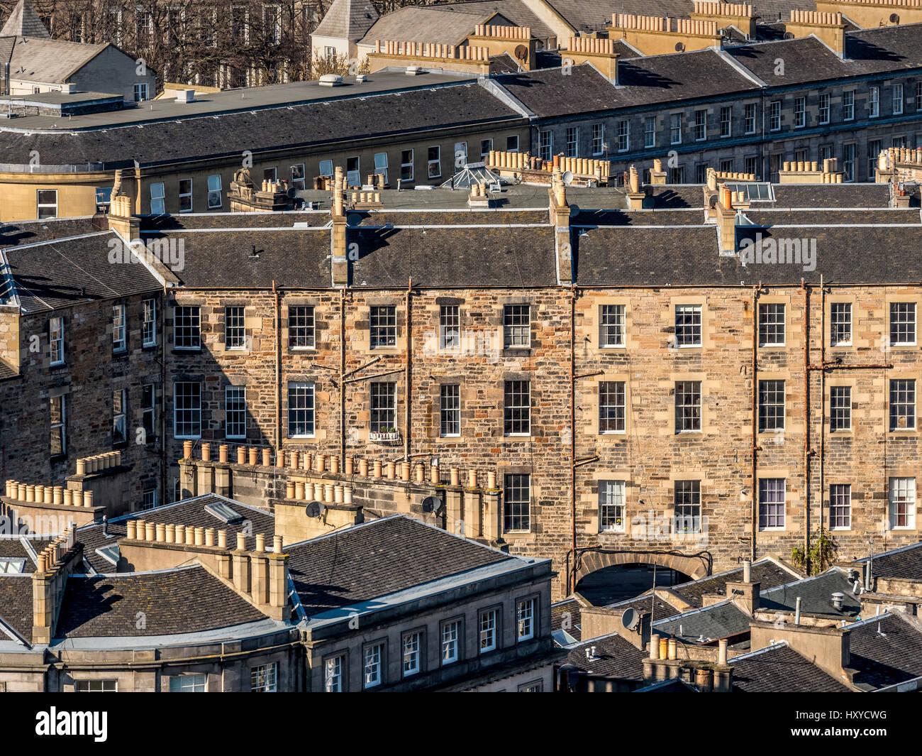 Residential housing in suburbs of Edinburgh, Scotland. Stock Photo