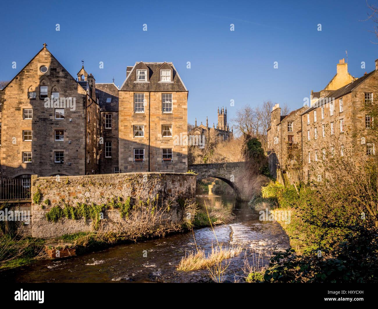 Dean Village, Edinburgh, Scotland. Stock Photo
