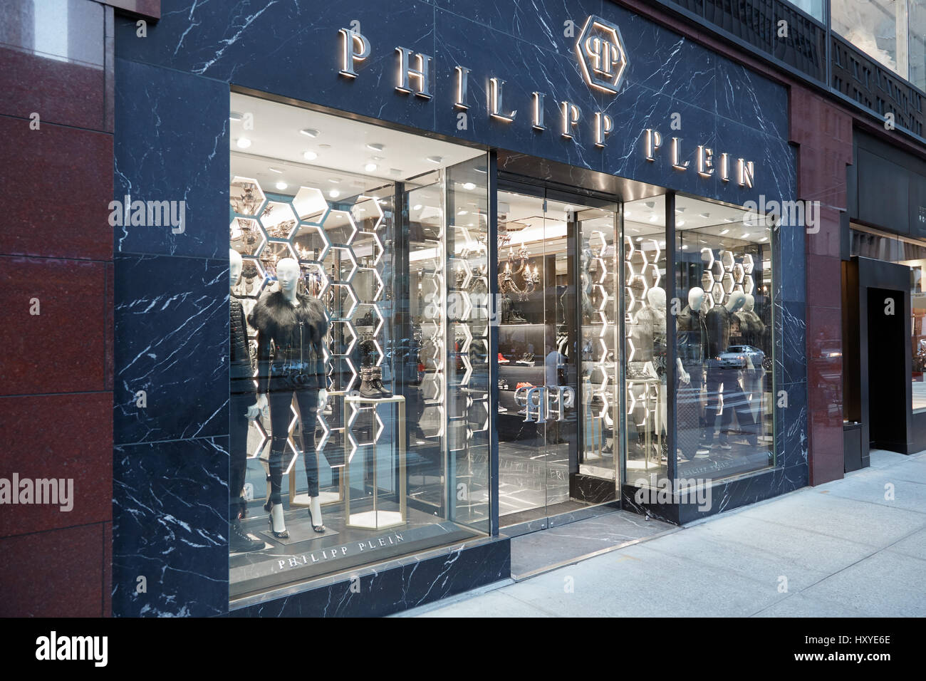 philipp plein store exterior in madison ave in new york. Black Bedroom Furniture Sets. Home Design Ideas