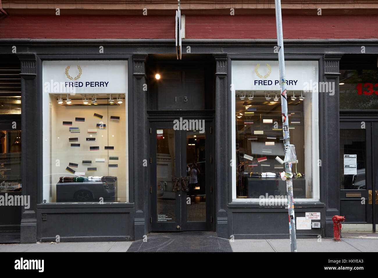 21770fbea NEW YORK - SEPTEMBER 7: Fred Perry shop in Wooster Street on September 7,