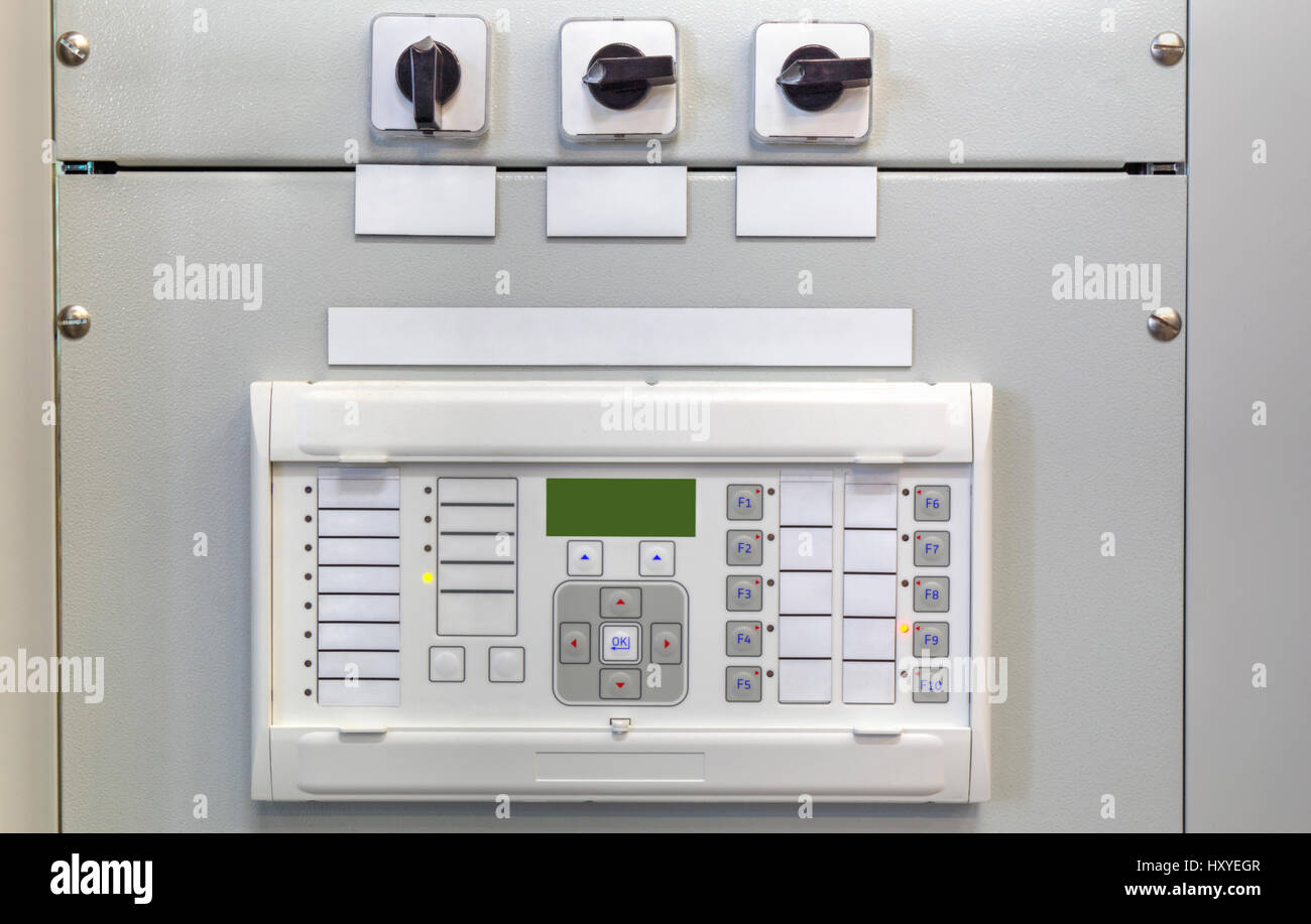 Electronic Control Unit Stock Photos Cbb Circuit Breaker Board Electrical Panel With Devices In Modern Substation Image