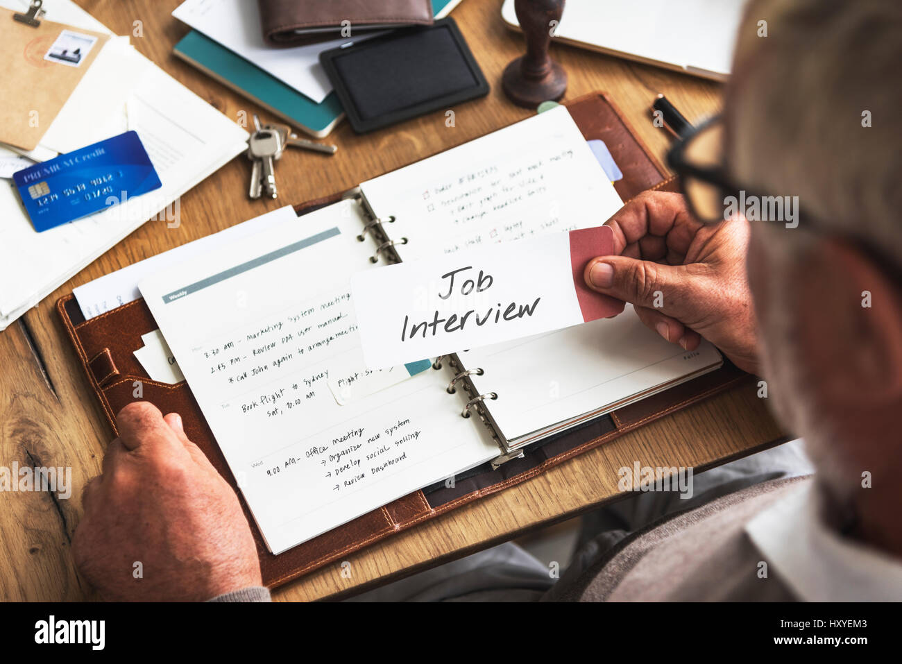 Job Interview Career Employment Recruitment Concept - Stock Image