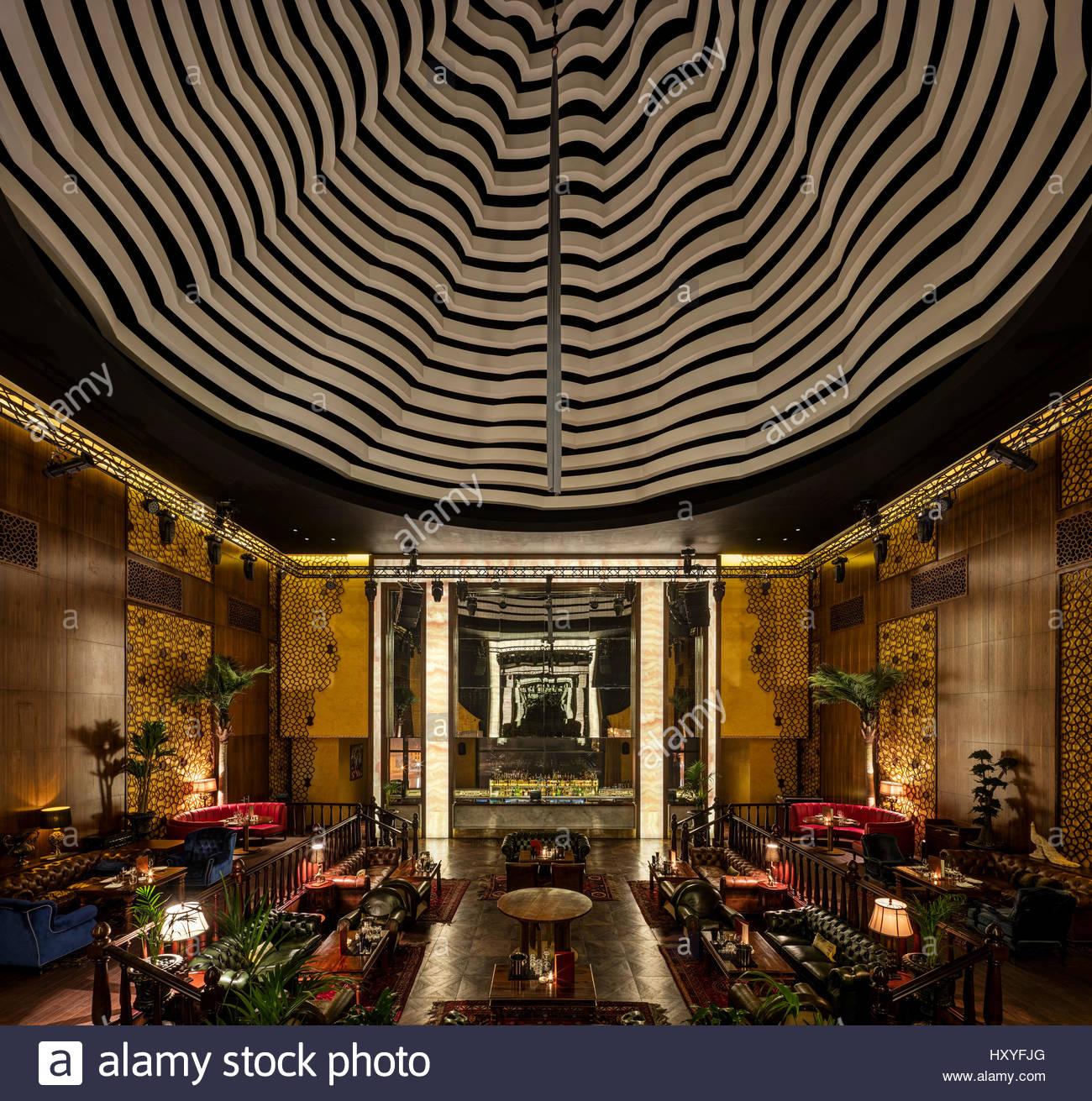 Lights Shop In Qatar: Night Club View. Marsa Malaz Kempinski