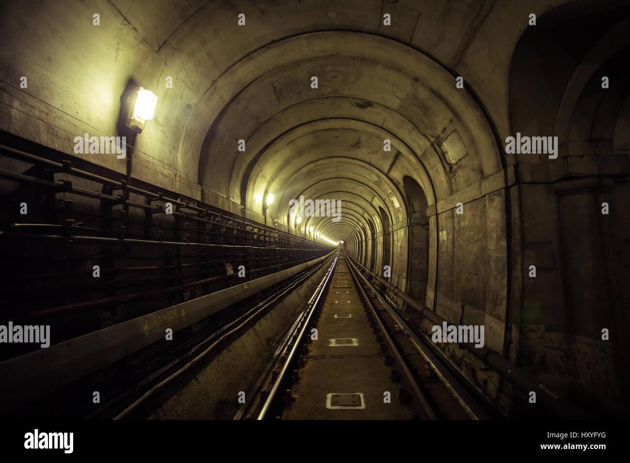 Brunel Tunnel, London Stock Photo