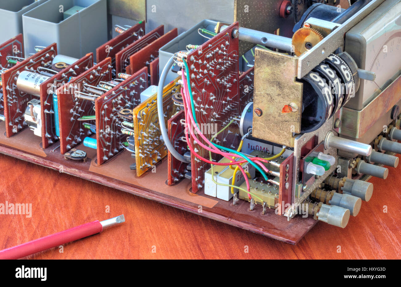Electric Power Meter Stock Photos X Y G Wiring Electronic Device With Measuring Scales Closeup Image