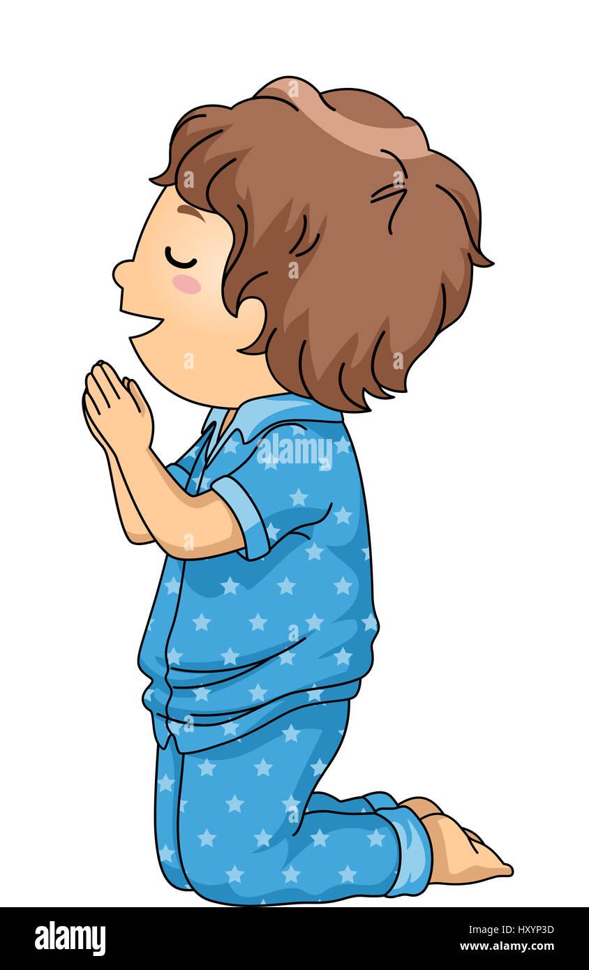 Child Praying Bedtime Stock Photos Amp Child Praying Bedtime