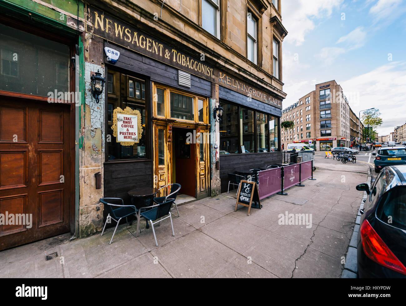 Kelvingrove Cafe on Argyle Street in Glasgow's Finnieston District - Stock Image