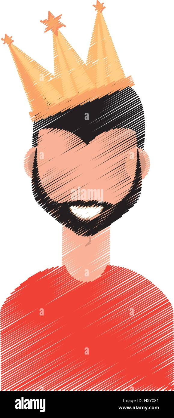 Drawing Guy Party Crown Stock Vector Image Art Alamy Polish your personal project or design with these cartoon crown transparent png images, make it even more personalized and more attractive. https www alamy com stock photo drawing guy party crown 137066945 html