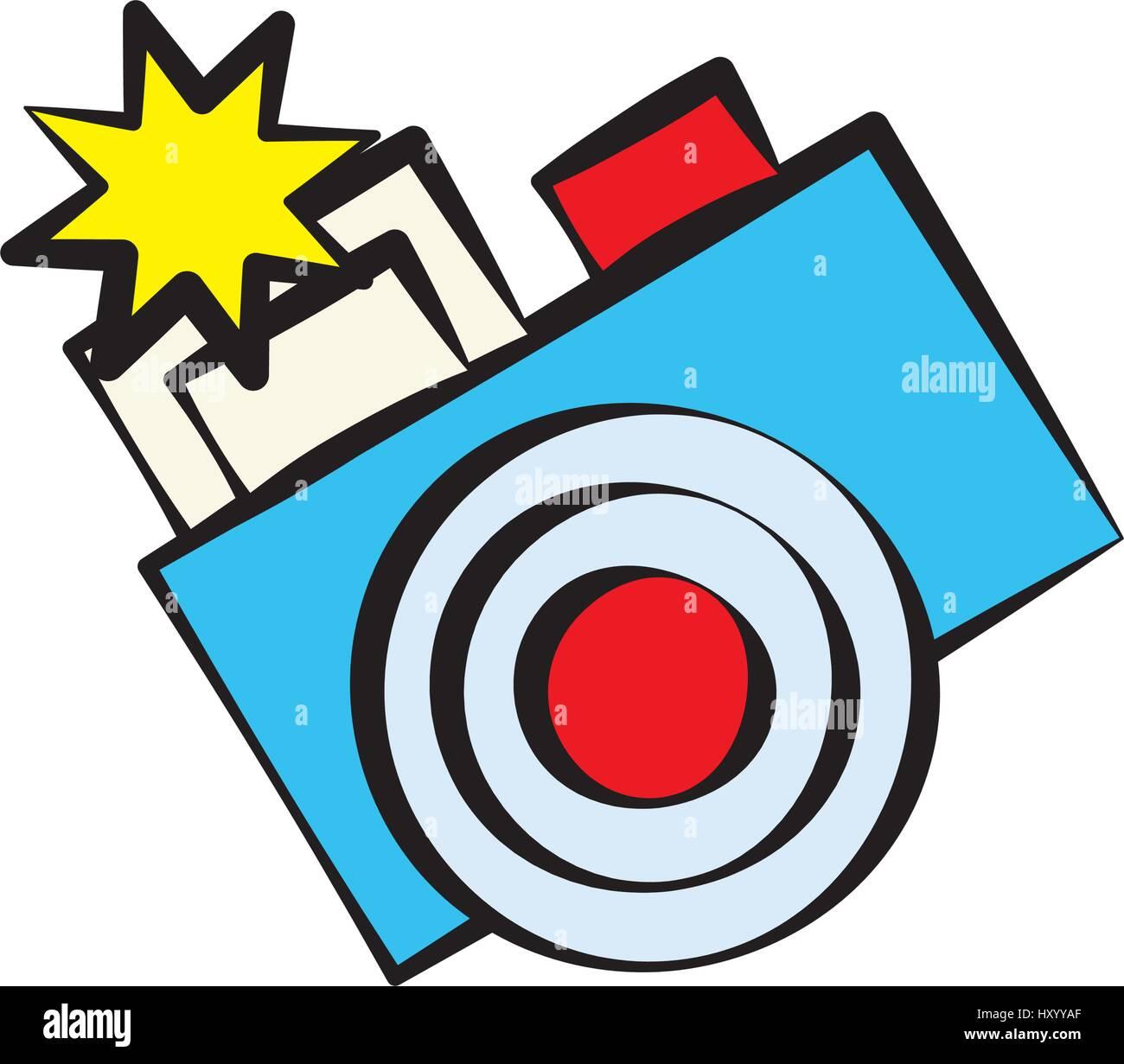 cartoon photo camera image - Stock Vector
