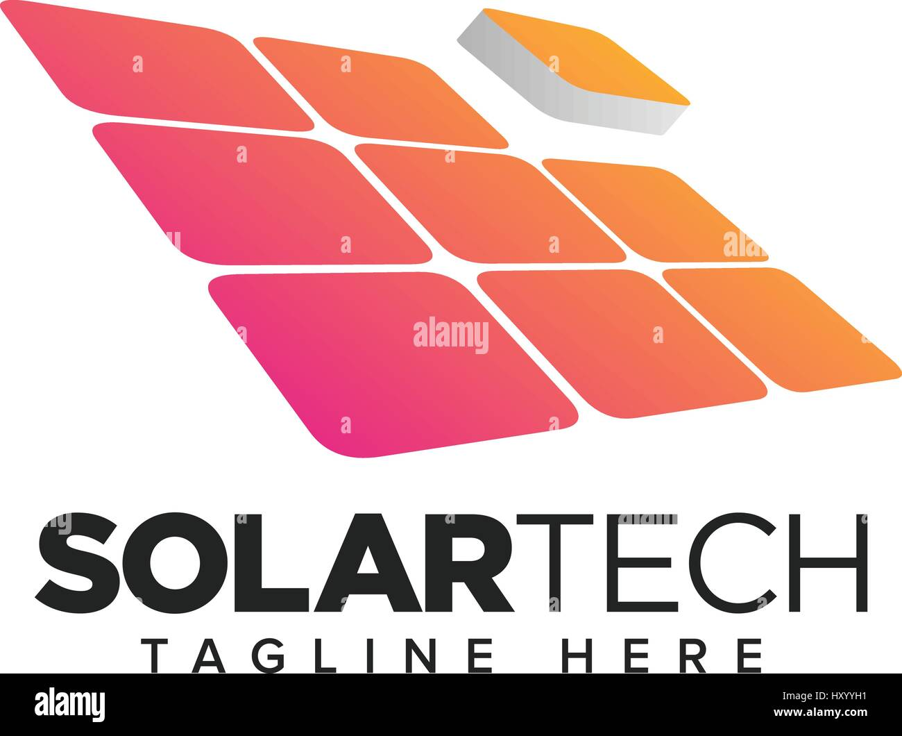 Energy Alternative, Solar Panels business symbol design - Stock Vector