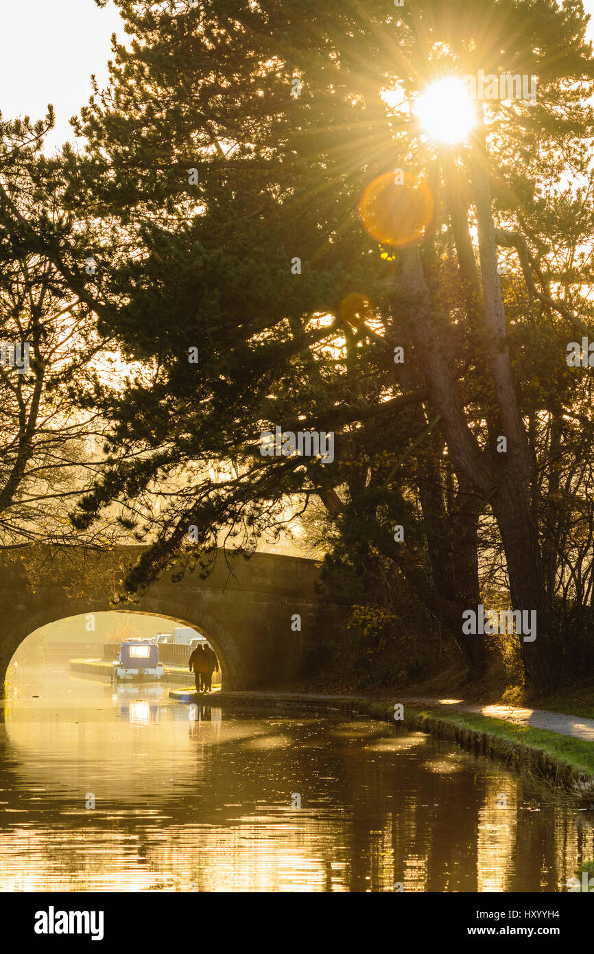 Haverbreaks Bridge on the Lancaster Canal in Lancaster Lancashire England - Stock Image