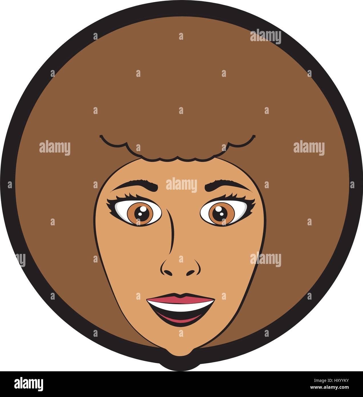 cartoon woman expression image - Stock Vector
