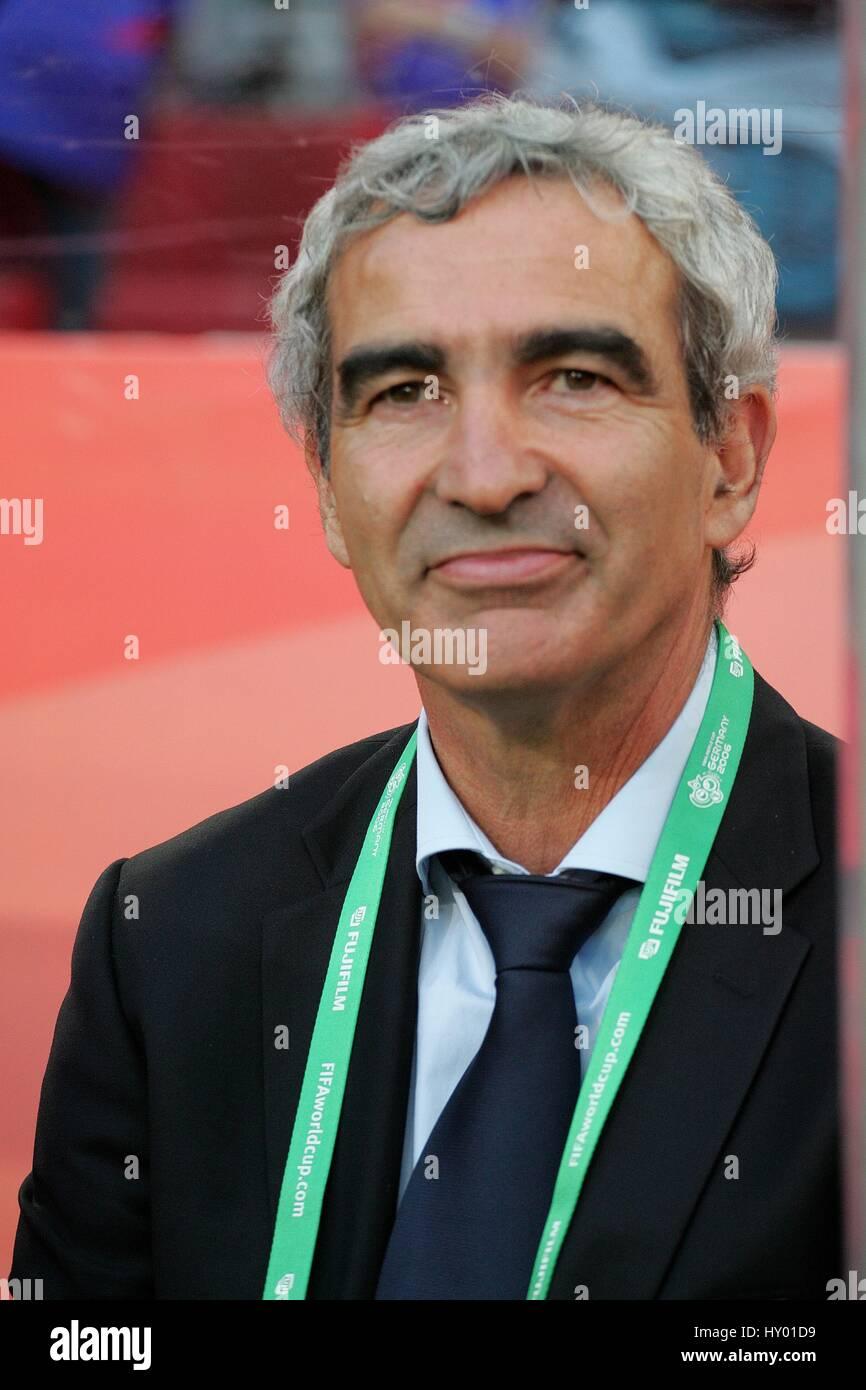 Raymond Domenech France Head Coach World Cup Rhein Energie Stadium Stock Photo Alamy