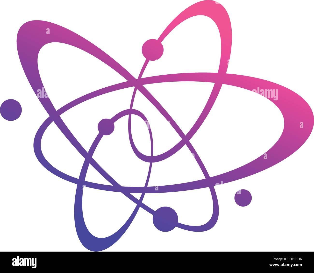 Atom orbiting design, vector illustration - Stock Vector