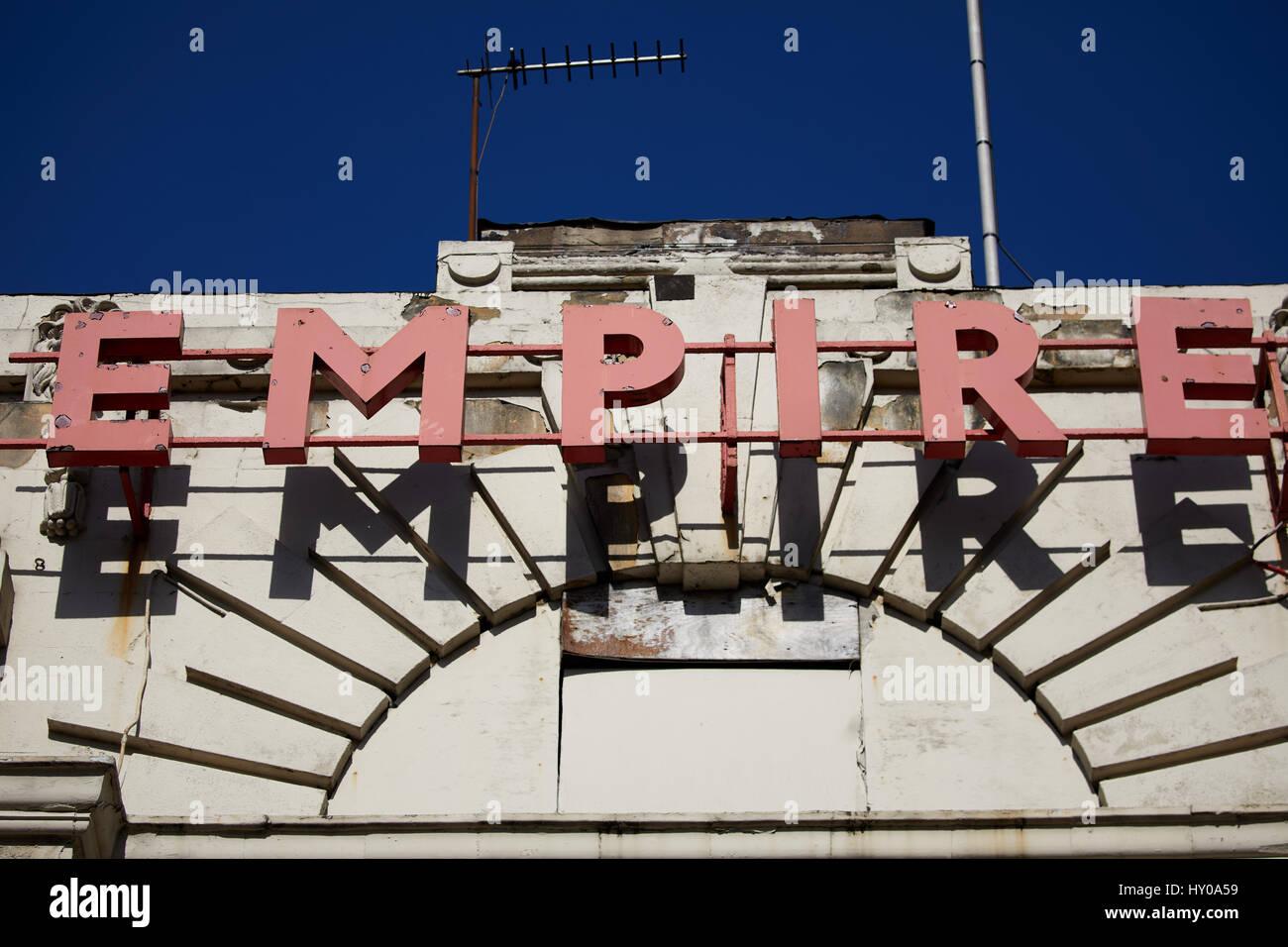 Empire secondhand shop Huddersfield town centre a large market town metropolitan borough  Kirklees, tWest Yorkshire, - Stock Image