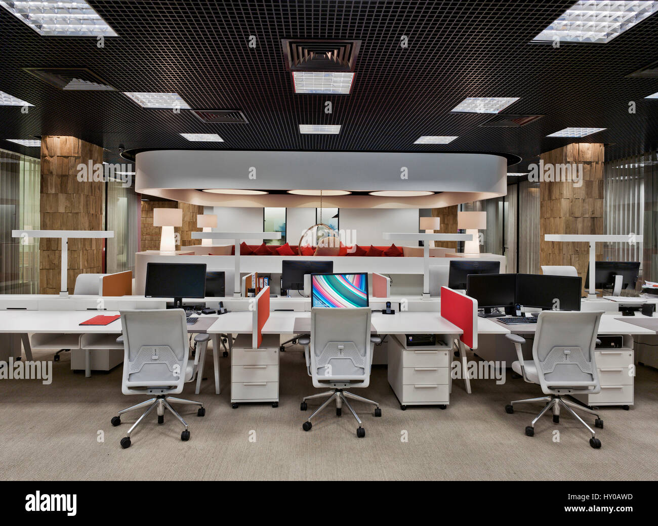 Moscow Interior Office Working Design Decor Modern Workplace Stock Photo Alamy