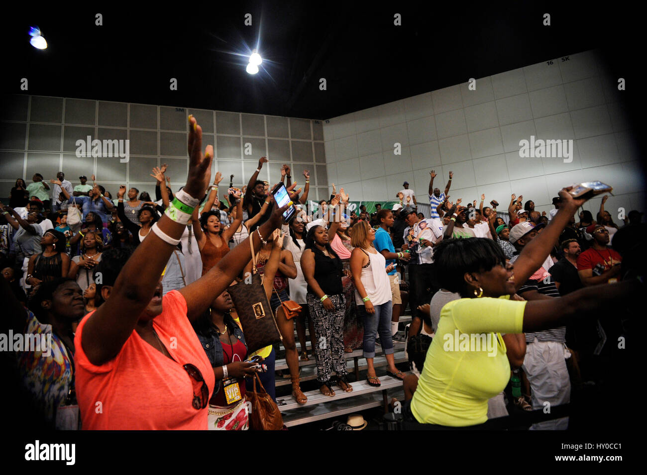 Audience at the BET Experience Sprite Celebrity Basketball Game at the Los Angeles Convention Center on June 27th, - Stock Image