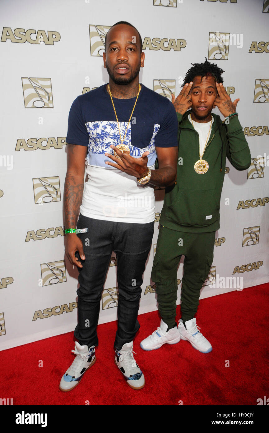 Jose Guapo of QC (r) attends the ASCAP Rhythm and Soul Awards at the Beverly Wilshire Hotel on June 25th, 2015 in - Stock Image