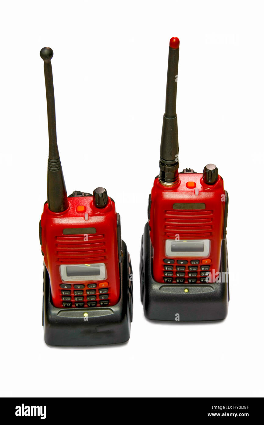 two radio communication for the better Talking on distance Stock Photo
